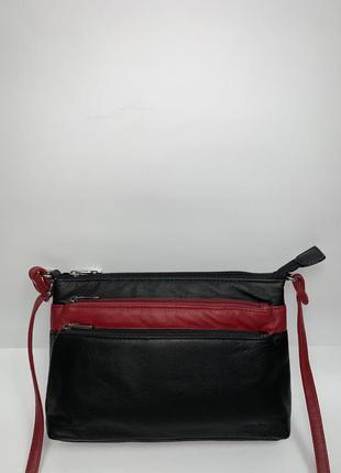 Кожаная фирменная актуальная сумочка на/ через плечо luca bocellu. стиль кросс боди