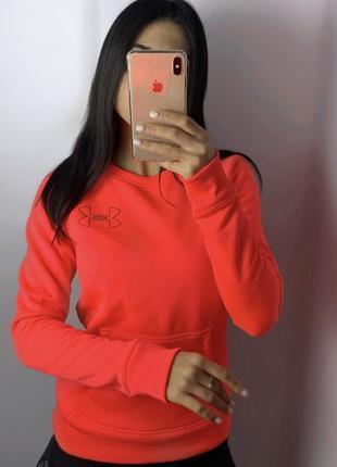 Женский свитшот under armour яркий розовый худи кофта толстовка андер