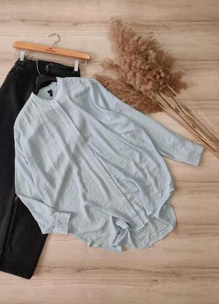 Длинная блуза рубашка из креп шифона vero moda p m-l