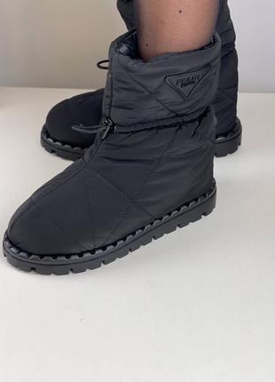 Дутики сапоги женские черные брендовые