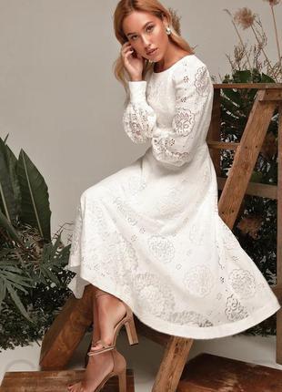 Романтичное кружевное платье  🤍