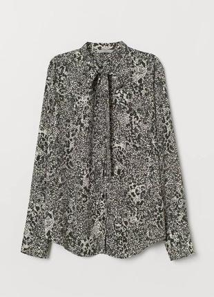 Блуза с завязкой zara