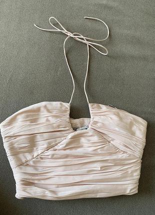 Zara новый топ с завязками из премиальной коллекции