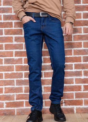 ❤джинси теплі чоловічі на флісі сині мужские синие джинсы на флисе