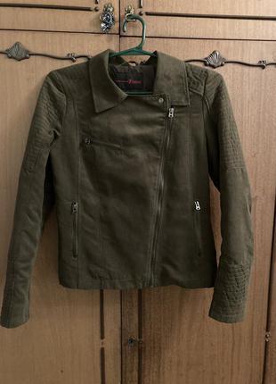 Куртка косуха натуральный замш tom tailor