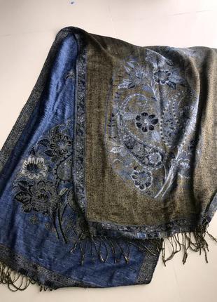 Шарф шарфик цветы платок хустка палантин