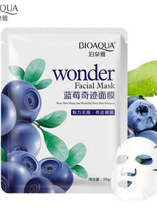 Тканевая маска для лица с экстрактом черники bioaqua