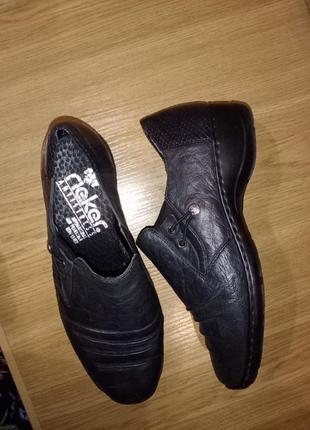 Натуральные коданые туфли rieker