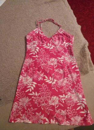 Платье сарафан красное 100% коттон
