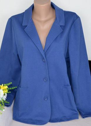 Брендовый синий пиджак жакет блейзер с карманами cotton traders коттон этикетка