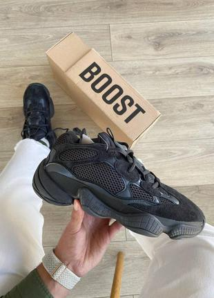 Женские, мужские кроссовки adidas yeezy 500 utility black