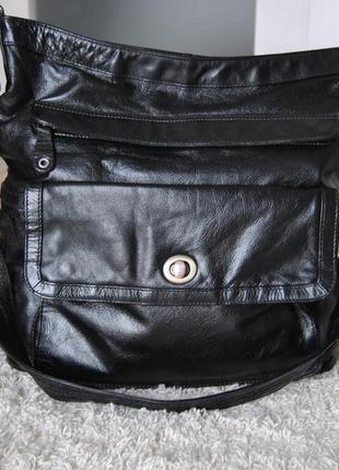Кожаная большая сумка /шкіряна сумка