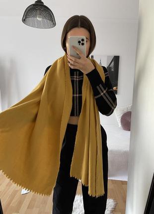 📎 горчичный шарф