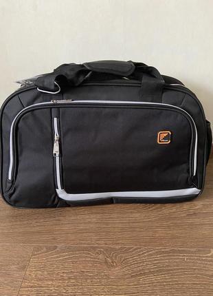 Сумка дорожная ручная кладь, спортивная дорожная сумка, спортивна сумка чорна,