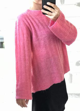 Шикарный базовый свитер розовый нежный
