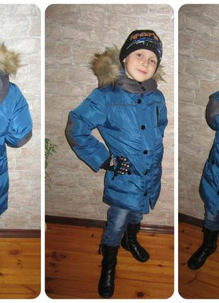 Куртка пуховик с мехом осень зима🔥🔥🔥