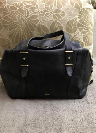 Стильная сумка известного американского бренда ralph lauren. оригинал. натуральная кожа