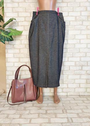 Новая красивая длинная юбка/юбка в пол имитация под джинс, размер 3-4хл
