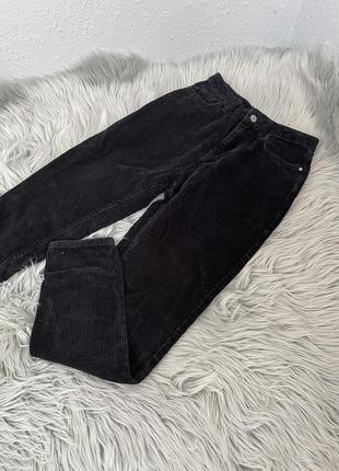 Чорні вельветові штани