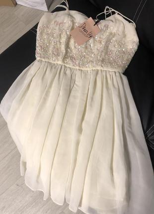 Платье в паетки кукольное платье вечернее платье