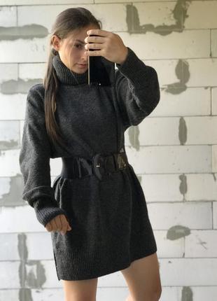 Шикарный базовый свитер серый эффектный