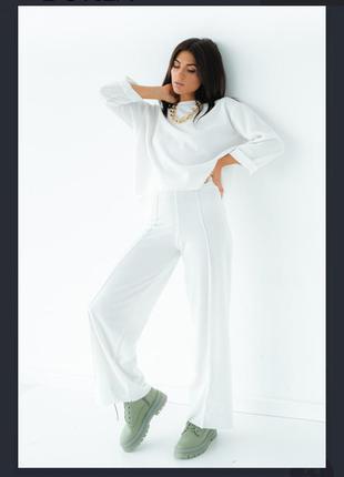 Трикотажный костюм в стиле оверсайз