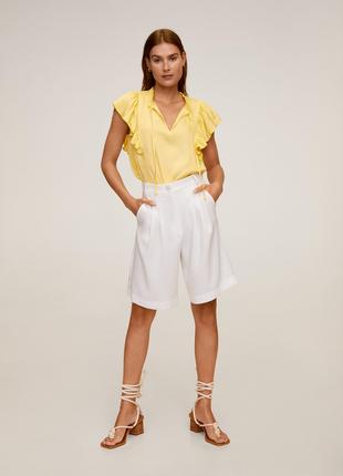 Сатиновая блуза mango