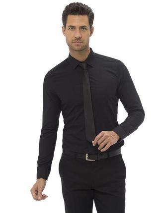 Черная мужская рубашка классическая lc waikikiлс вайкики