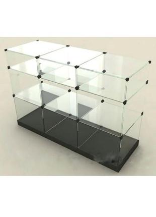 Скляна вітрина куб
