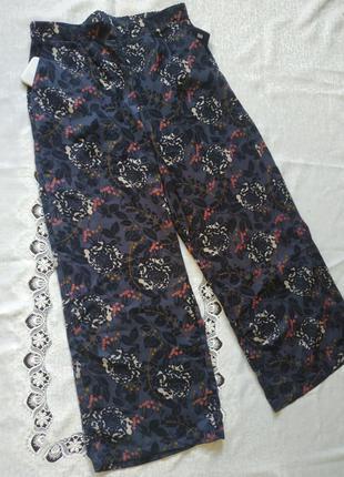Штаны палаццо штаны свободного крояв цветгчный принь