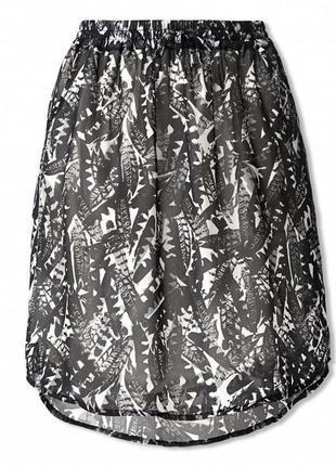 Шифоновая юбка на подкладке от tchibo (германия ) размер 32 евро наш хс,с