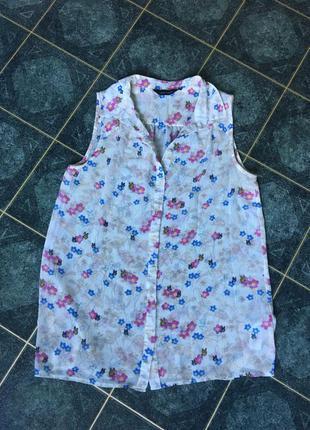 Блузка в цветочек new look 38р