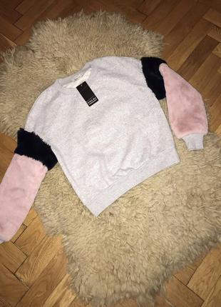 Свитшот женский,жіночий світшот zara худі реглан пуловер лонгслив світшот