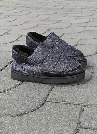 Темно серые черные лейбы теплые слипоны ботинки кроссовки дутики угги на меху