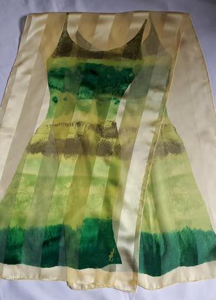 Винтажный шелковый шарфик jammers & leufgen ( 44 см на 150 см)