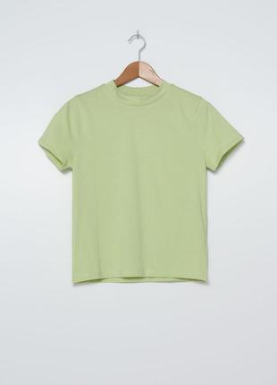Новая базовая хлопковая футболка house светлая  салатовая  блуза