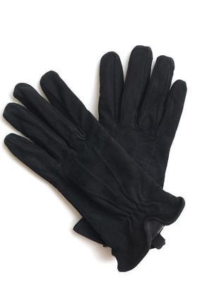 Замшевые утепленные женские перчатки раз.8 германия кожа /269/