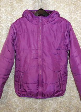Куртка cecilia girl style 10 лет 140 см двухсторонняя демисезон