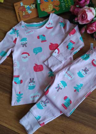 Классная трикотажная пижамка george на 2-3 года.