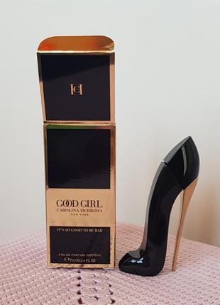 Carolina herrera good girl eau de parfum supreme 7ml парфюмированная вода новая оригинал