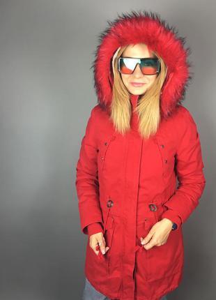 Парка куртка осенняя зимняя демисезонная плащ пальто трансформер