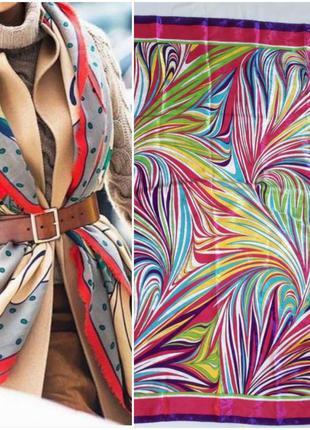 Яркий турецкий платок (91 см на 92 см)