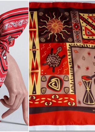Шейный платок африканские мотивы ( 48 см на 50 см)