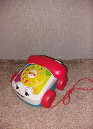 Игрушка-каталка «веселый телефон» fisher-price