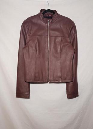 Натуральная кожаная куртка на молнии