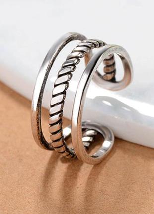 Посеребренное кольцо тройное / большая распродажа!