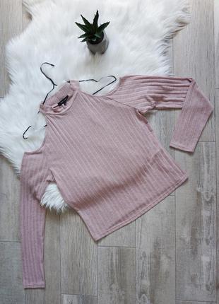 🔥🔥🔥кофта блуза лонгслив  с голыми плечами, new look, m