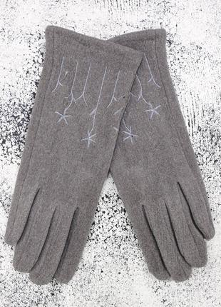 "Женские перчатки ""chamomile"" светло-серые"