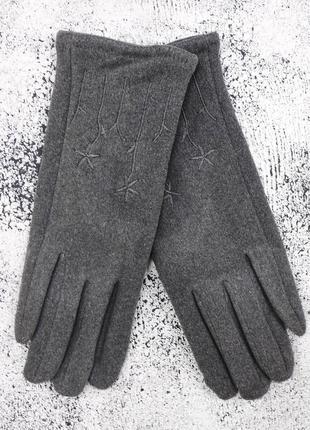 "Женские перчатки ""chamomile"" темно-серые"
