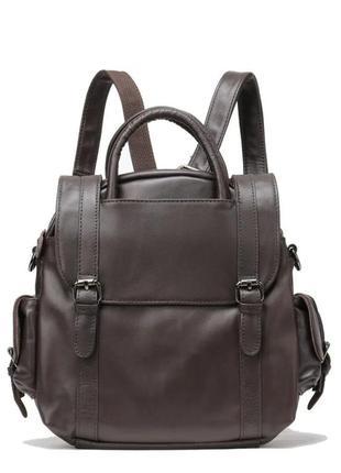 Женская сумка кожаная коричневая